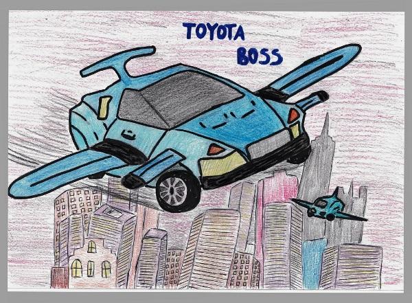 рисунок тойота автомобиль мечты